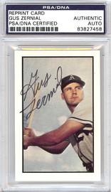 Gus Zernial Autographed 1953 Bowman Reprint Card #13 Philadelphia A's PSA/DNA #83827458