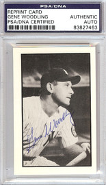 Gene Woodling Autographed 1953 Bowman Reprint Card #31 New York Yankees PSA/DNA #83827463