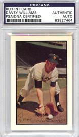 Davey Williams Autographed 1953 Bowman Reprint Card #1 New York Giants PSA/DNA #83827464