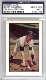 Davey Williams Autographed 1953 Bowman Reprint Card #1 New York Giants PSA/DNA #83827466
