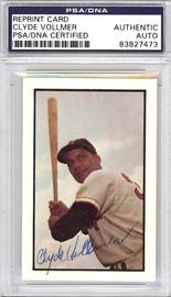 Clyde Vollmer Autographed 1953 Bowman Reprint Card #152 Washington Senators PSA/DNA #83827473
