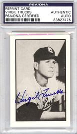 Virgil Trucks Autographed 1953 Bowman Reprint Card #17 St. Louis Browns PSA/DNA #83827475