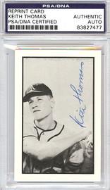 Keith Thomas Autographed 1953 Bowman Reprint Card #62 Philadelphia A's PSA/DNA #83827477