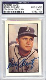 Bobby Shantz Autographed 1953 Bowman Reprint Card #11 Philadelphia A's PSA/DNA #83827490