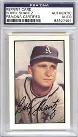 Bobby Shantz Autographed 1953 Bowman Reprint Card #11 Philadelphia A's PSA/DNA #83827491