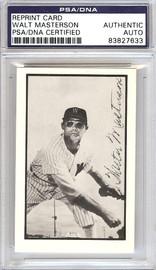 Walt Masterson Autographed 1953 Bowman Reprint Card #9 Washington Senators PSA/DNA #83827633