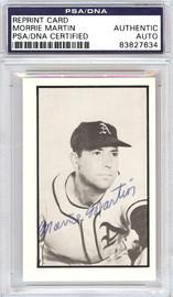 Morrie Martin Autographed 1953 Bowman Reprint Card #53 Philadelphia A's PSA/DNA #83827634