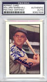 Willard Marshall Autographed 1953 Bowman Reprint Card #58 Cincinnati Reds PSA/DNA #83827636