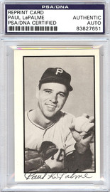 Paul LaPalme Autographed 1953 Bowman Reprint Card #19 Pittsburgh Pirates PSA/DNA #83827651
