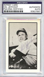 Hal Jeffcoat Autographed 1953 Bowman Reprint Card #37 Chicago Cubs PSA/DNA #83827667