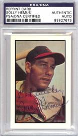 Solly Hemus Autographed 1953 Bowman Reprint Card #85 St. Louis Cardinals PSA/DNA #83827673