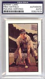 Fred Hatfield Autographed 1953 Bowman Reprint Card #125 Detroit Tigers PSA/DNA #83827679