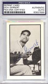 Dick Gernert Autographed 1953 Bowman Reprint Card #11 Boston Red Sox PSA/DNA #83827699