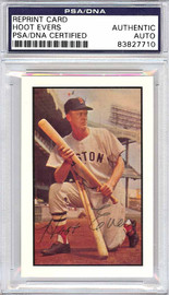 Hoot Evers Autographed 1953 Bowman Reprint Card #25 Boston Red Sox PSA/DNA #83827710