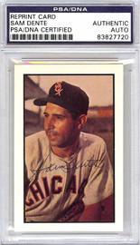 Sam Dente Autographed 1953 Bowman Reprint Card #137 Chicago White Sox PSA/DNA #83827720