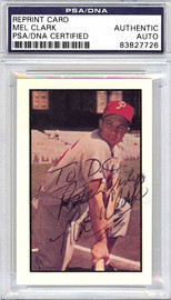 Mel Clark Autographed 1953 Bowman Reprint Card #67 Philadelphia Phillies PSA/DNA #83827726