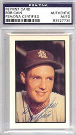 Bob Cain Autographed 1953 Bowman Reprint Card #56 St. Louis Browns PSA/DNA #83827735