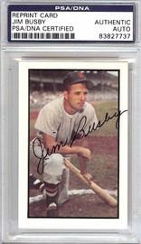 Jim Busby Autographed 1953 Bowman Reprint Card #15 Washington Senators PSA/DNA #83827737