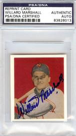 Willard Marshall Autographed 1949 Bowman Reprint Card #48 New York Giants PSA/DNA #83828013