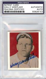 Wally Westlake Autographed 1949 Bowman Reprints Card #45 Pittsburgh Pirates PSA/DNA #83828153
