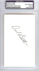 Dick Bates Autographed 3x5 Index Card Seattle Pilots PSA/DNA #83828990