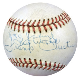 """Frank Gustine Autographed Official NL Baseball Pittsburgh Pirates """"To Johnny, Best Wishes"""" PSA/DNA #Z80103"""
