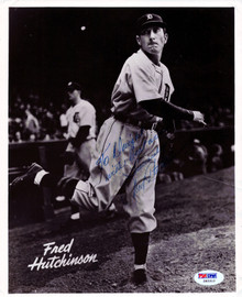 """Fred Hutchinson Autographed 8x10 Photo Detroit Tigers """"To Dwight Best Wishes"""" PSA/DNA #Z83312"""