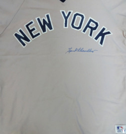 Spud Chandler Autographed New York Yankees Jersey PSA/DNA #X04116