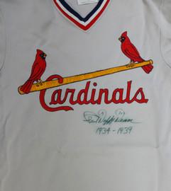 "St. Louis Cardinals Paul Daffy Dean Autographed Gray Jersey ""1934-1939"" PSA/DNA #V09865"
