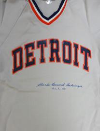 """Detroit Tigers Charles """"Charlie"""" Leonard Gehringer Autographed Gray Jersey """"HOF 49"""" PSA/DNA #V11069"""