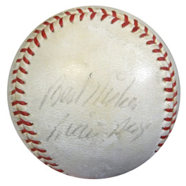 "Willie Mays Autographed NL Giles Baseball San Francisco Giants ""Best Wishes"" 1950's Vintage Signature PSA/DNA #Z05624"