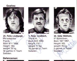 1981 Team Sweden Autographed 4x6 Program With 23 Total Signatures Including Pelle Lindbergh PSA/DNA #Z05646
