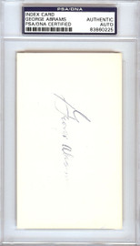 George Abrams Autographed 3x5 Index Card Cincinnati Reds PSA/DNA #83860225