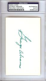 George Abrams Autographed 3x5 Index Card Cincinnati Reds PSA/DNA #83860226