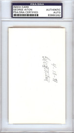 George Bill Aiton Autographed 3x5 Index Card 1912 St. Louis Browns PSA/DNA #83860262