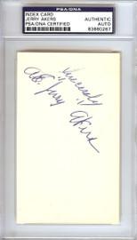 "Albert Earl ""Jerry"" Akers Autographed 3x5 Index Card Washington Senators PSA/DNA #83860267"