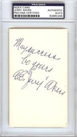 "Albert Earl ""Jerry"" Akers Autographed 3x5 Index Card Washington Senators PSA/DNA #83860268"
