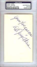 "Albert Earl ""Jerry"" Akers Autographed 3x5 Index Card Washington Senators PSA/DNA #83860269"