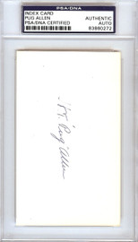 Horace Pug Allen Autographed 3x5 Index Card Brooklyn Dodgers PSA/DNA #83860272