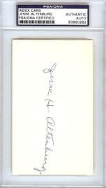 Jesse Altenburg Autographed 3x5 Index Card Pittsburgh Pirates PSA/DNA #83860282