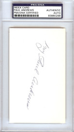 Paul Ivy Andrews Autographed 3x5 Index Card New York Yankees PSA/DNA #83860298