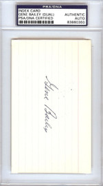 Gene Bailey Autographed 3x5 Index Card Boston Braves, Philadelphia A's Signed Twice PSA/DNA #83860350