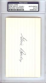 Gene Bailey Autographed 3x5 Index Card Boston Braves, Philadelphia A's Signed Twice PSA/DNA #83860351