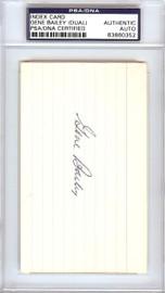 Gene Bailey Autographed 3x5 Index Card Boston Braves, Philadelphia A's Signed Twice PSA/DNA #83860352