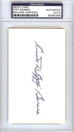 Everett Eppy Barnes Autographed 3x5 Index Card Pittsburgh Pirates PSA/DNA #83860366