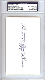 Everett Eppy Barnes Autographed 3x5 Index Card Pittsburgh Pirates PSA/DNA #83860367