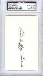Everett Eppy Barnes Autographed 3x5 Index Card Pittsburgh Pirates PSA/DNA #83860370