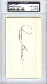 Jimmy Brown Autographed 3x5 Index Card St. Louis Cardinals PSA/DNA #83860382