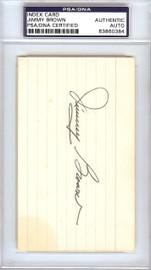 Jimmy Brown Autographed 3x5 Index Card St. Louis Cardinals PSA/DNA #83860384