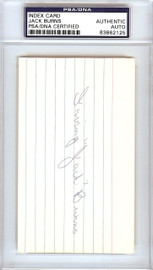 Irving Jack Burns Autographed 3x5 Index Card St. Louis Browns, Detroit Tigers PSA/DNA #83862125